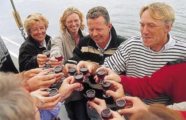 Feesten op een zeilschip