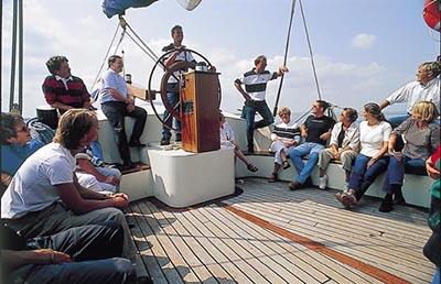 Klantendag op een zeilschip